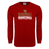 Cardinal Long Sleeve T Shirt-Basketball Repeating