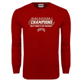 Cardinal Long Sleeve T Shirt-2017 NCAA Division I Mens Hockey Champions
