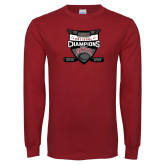 Cardinal Long Sleeve T Shirt-2017 Mens NCAA Hockey National Champions