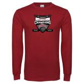 Cardinal Long Sleeve T Shirt-2017 Mens NCAA Hockey National Champions