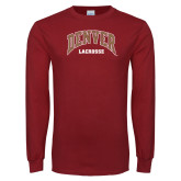 Cardinal Long Sleeve T Shirt-Denver Lacrosse