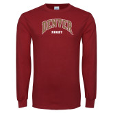 Cardinal Long Sleeve T Shirt-Denver Rugby