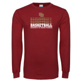 Cardinal Long Sleeve T Shirt-DU Basketball