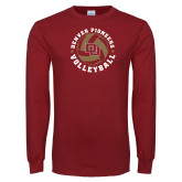 Cardinal Long Sleeve T Shirt-DU Volleyball