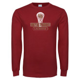 Cardinal Long Sleeve T Shirt-DU Lacrosse