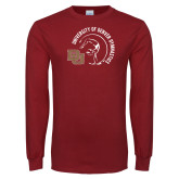Cardinal Long Sleeve T Shirt-DU Gymnastics