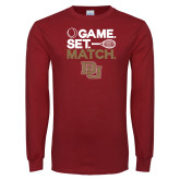 Cardinal Long Sleeve T Shirt-Game Set Match
