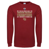 Cardinal Long Sleeve T Shirt-2018 NCHC Ice Hockey Champions