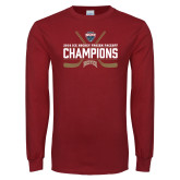 Cardinal Long Sleeve T Shirt-NCHC Ice Hockey Champions