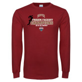 Cardinal Long Sleeve T Shirt-NCHC 2018 Ice Hockey Champions
