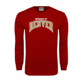 Cardinal Long Sleeve T Shirt-Arched U of Denver 2 Color Version