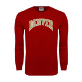 Cardinal Long Sleeve T Shirt-Arched Denver 2 Color Version