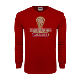 Cardinal Long Sleeve T Shirt-Denver Pioneers Lacrosse Stick
