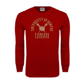 Cardinal Long Sleeve T Shirt-Arched University of Denver Lacrosse