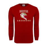 Cardinal Long Sleeve T Shirt-Denver Lacrosse Helmet