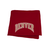 Cardinal Sweatshirt Blanket-Arched Denver