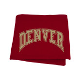 Cardinal Sweatshirt Blanket-Gold Arched Denver