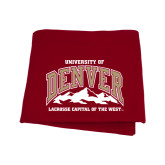 Cardinal Sweatshirt Blanket-Lacrosse Capital of the West