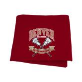 Cardinal Sweatshirt Blanket-Lacrosse 50th Anniversary