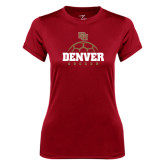Ladies Syntrel Performance Cardinal Tee-Denver Soccer Half Ball