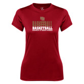 Ladies Syntrel Performance Cardinal Tee-Basketball Repeating