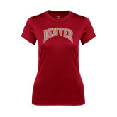 Ladies Syntrel Performance Cardinal Tee-Arched Denver