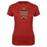 Ladies Syntrel Performance Cardinal Tee-Pioneer Pride Hockey
