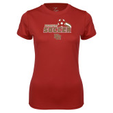 Ladies Syntrel Performance Cardinal Tee-Pioneers Soccer