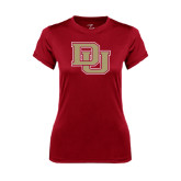 Ladies Syntrel Performance Cardinal Tee-DU