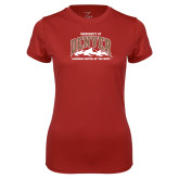 Ladies Syntrel Performance Cardinal Tee-Lacrosse Capital