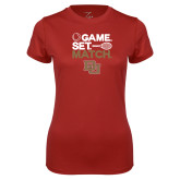 Ladies Syntrel Performance Cardinal Tee-Game Set Match