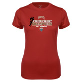 Ladies Syntrel Performance Cardinal Tee-NCHC 2018 Ice Hockey Champions