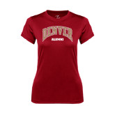 Ladies Syntrel Performance Cardinal Tee-Alumni
