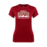 Ladies Syntrel Performance Cardinal Tee-Lacrosse Capital of the West