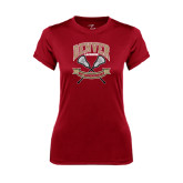 Ladies Syntrel Performance Cardinal Tee-Lacrosse 50th Anniversary