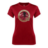 Ladies Syntrel Performance Cardinal Tee-2016 National Skiing Champs