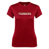 Ladies Syntrel Performance Cardinal Tee-Pioneers Two Tone
