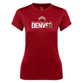 Ladies Syntrel Performance Cardinal Tee-Stacked University of Denver - Two Tone