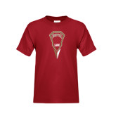 Youth Cardinal T Shirt-Denver LAX Geometric Stick