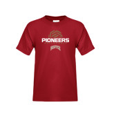Youth Cardinal T Shirt-Pioneers Volleyball Geometric Half Ball