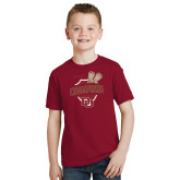 Youth Cardinal T Shirt-DU Mens Lacrosse Champions