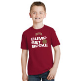 Youth Cardinal T Shirt-Bump Set Spike