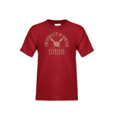 Youth Cardinal T Shirt-Arched University of Denver Lacrosse