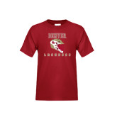 Youth Cardinal T Shirt-Denver Lacrosse Helmet