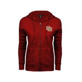 ENZA Ladies Cardinal Fleece Full Zip Hoodie-DU