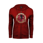 ENZA Ladies Cardinal Fleece Full Zip Hoodie-2016 National Skiing Champs