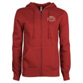 ENZA Ladies Cardinal Fleece Full Zip Hoodie-Ricks Center