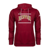 Adidas Climawarm Cardinal Team Issue Hoodie-University of Denver Pioneers Bar Stacked