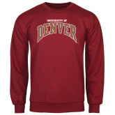 Cardinal Fleece Crew-Arched University of Denver