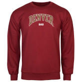 Cardinal Fleece Crew-Denver Dad